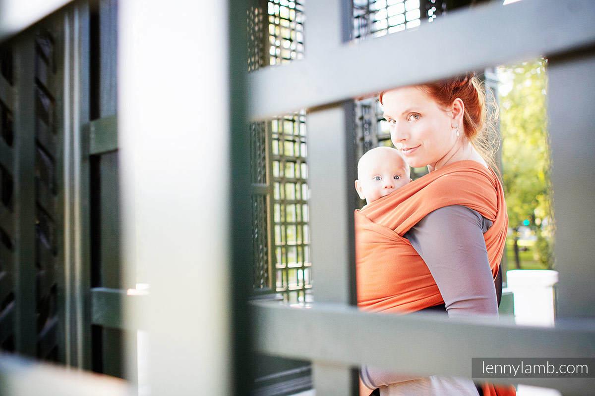 Chusta do noszenia dzieci, elastyczna - Jaspis - rozmiar standardowy 5.0 m #babywearing