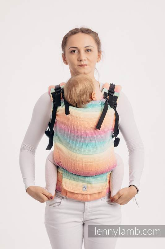 LennyUp Carrier, Standard Size, herringbone weave 100% cotton - LITTLE HERRINGBONE IMAGINATION (grade B) #babywearing