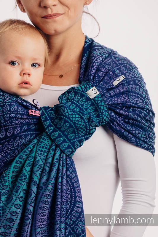 Żakardowa chusta kółkowa do noszenia dzieci, bawełna - PAWI OGON - PROWANSJA - long 2.1m #babywearing