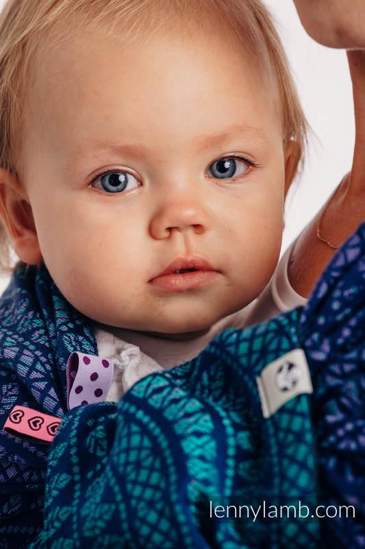 de protege tirantes y tiras de alcance (60% algodón, 40% Poliéster) - PEACOCK'S TAIL - PROVANCE (grado B) #babywearing