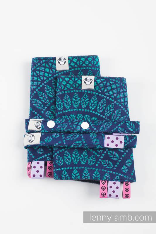Set de protege tirantes y tiras de alcance (60% algodón, 40% Poliéster) - PEACOCK'S TAIL - PROVANCE  #babywearing
