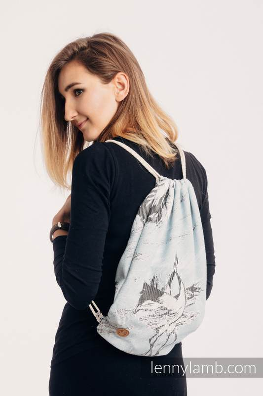 Sackpack made of wrap fabric (100% cotton) - DANCE OF LOVE  - standard size 32cmx43cm #babywearing