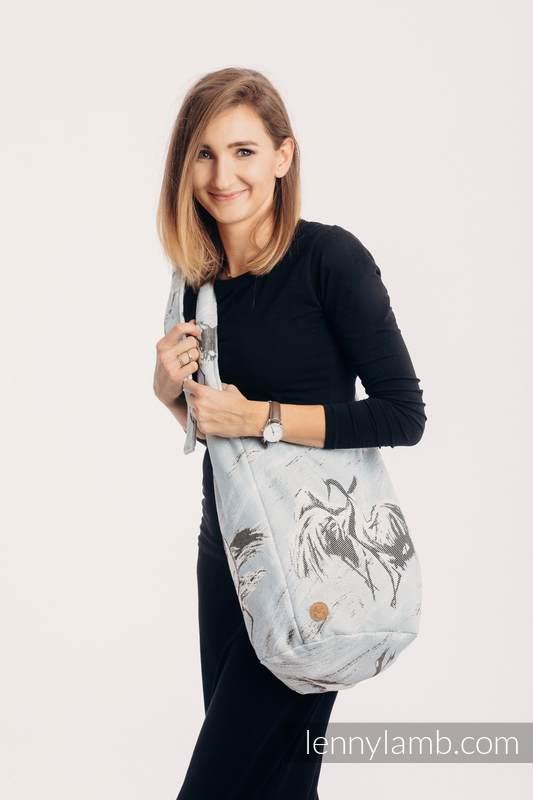 Hobo Tasche, hergestellt vom gewebten Stoff (100% Baumwolle) - DANCE OF LOVE  #babywearing