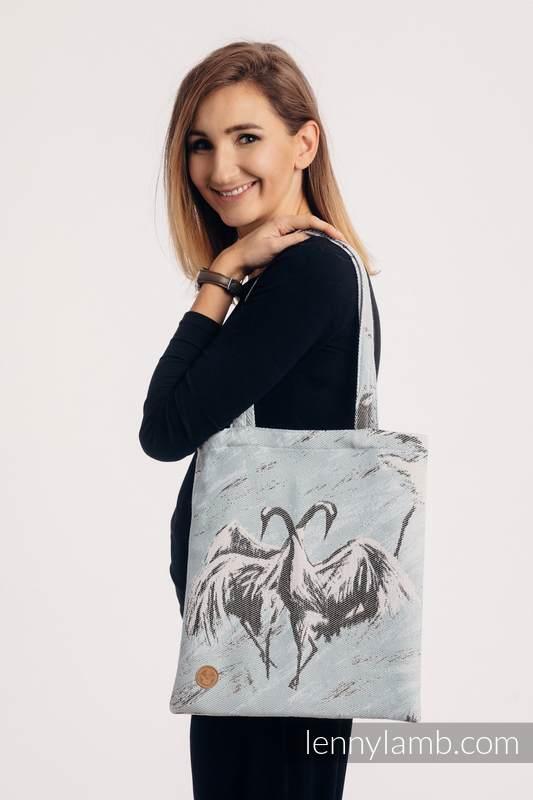 Einkaufstasche, hergestellt aus gewebtem Stoff (100% Baumwolle) - DANCE OF LOVE  #babywearing