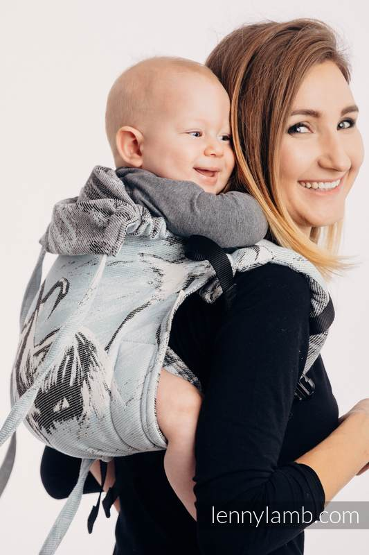 Lenny Buckle Onbuhimo, standard size, jacquard weave (100% cotton) - DANCE OF LOVE #babywearing