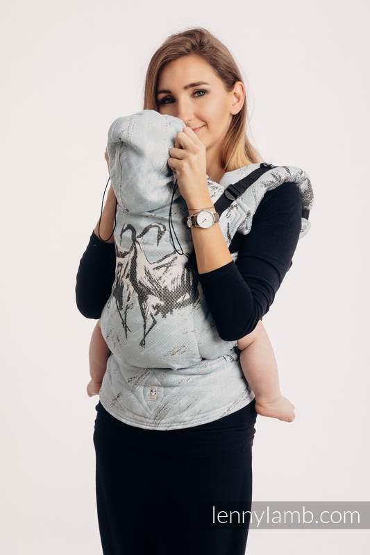 Ergonomische Tragehilfe, Größe Toddler, Jacquardwebung, 100% Baumwolle - DANCE OF LOVE - Zweite Generation #babywearing