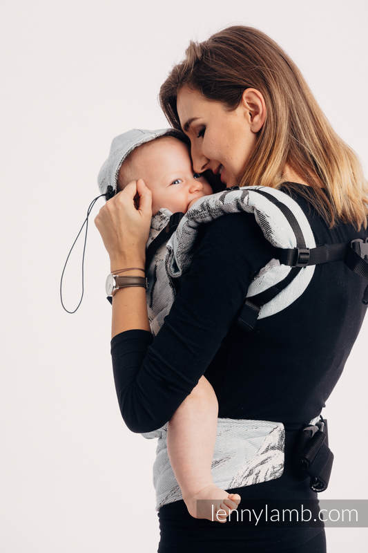 Ergonomic Carrier, Baby Size, jacquard weave 100% cotton - DANCE OF LOVE - Second Generation #babywearing