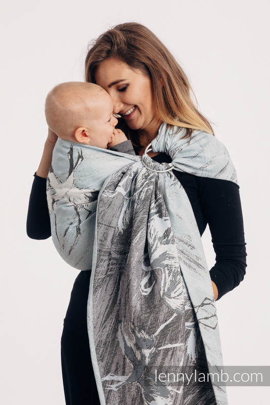 Ringsling, Jacquard Weave (100% cotton) - with gathered shoulder - DANCE OF LOVE #babywearing