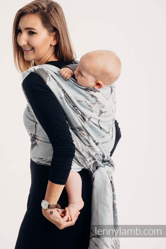 Écharpe, jacquard (100% coton) - DANCE OF LOVE  - taille M #babywearing