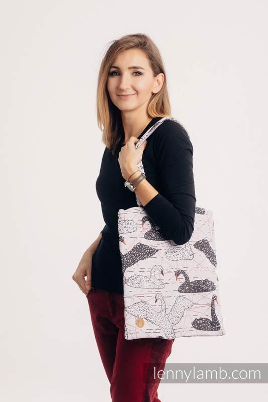 Shopping bag made of wrap fabric (100% cotton) - WILD SWANS #babywearing