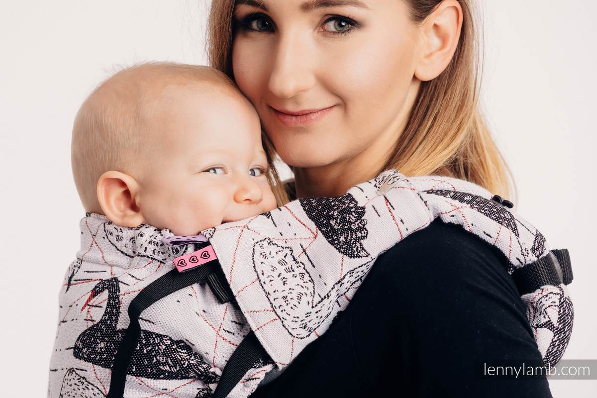 Drool Pads & Reach Straps Set, (60% cotton, 40% polyester) - WILD SWANS #babywearing
