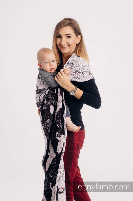Ringsling, Jacquard Weave (100% cotton) - WILD SWANS - standard 1.8m #babywearing