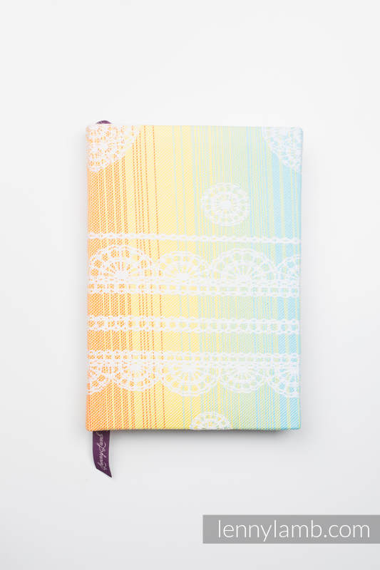 Calendar 2019 with jacquard fabric hard cover - size A5 - RAINBOW LACE #babywearing