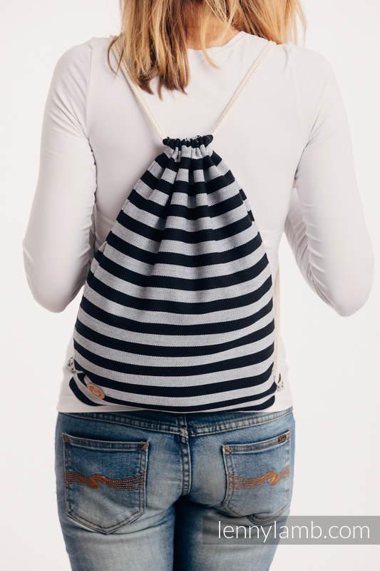 Turnbeutel, hergestellt vom gewebten Stoff (100% Baumwolle) - LIGHT AND SHADOW - Standard Größe 32cmx43cm #babywearing