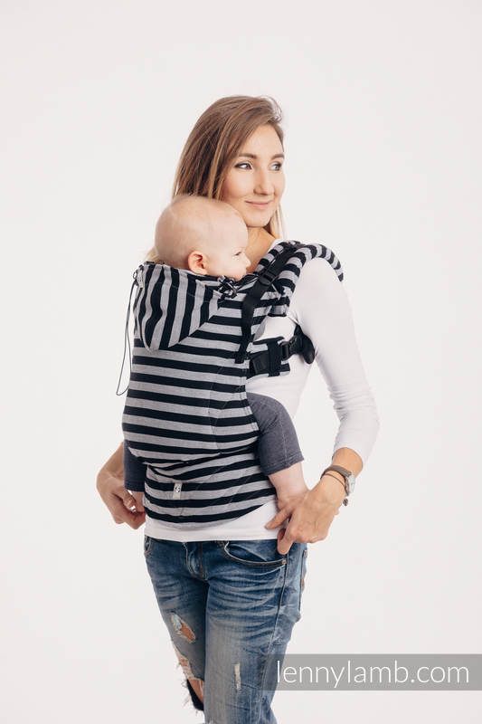Ergonomic Carrier, Baby Size, broken-twill weave 100% cotton - LIGHT AND SHADOW -  #babywearing