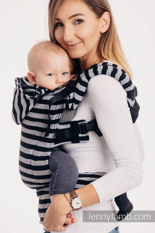 Ergonomic Carrier, Baby Size, broken-twill weave 100% cotton - wrap conversion from LIGHT AND SHADOW -  #babywearing