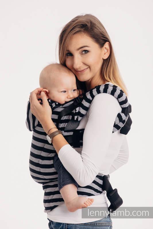 Nosidełko Ergonomiczne z tkaniny skośnokrzyżowej 100% bawełna , Baby Size, ŚWIATŁA I CIENIE - Druga Generacja. #babywearing