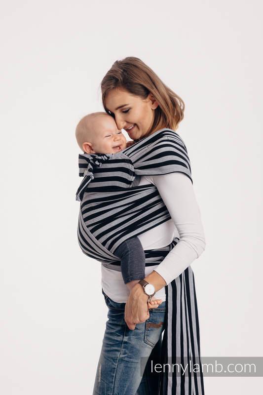 Nosidełko dla dzieci WRAP-TAI MINI, 100 % bawełna skośno-krzyżowa, z kapturkiem - ŚWIATŁA I CIENIE #babywearing