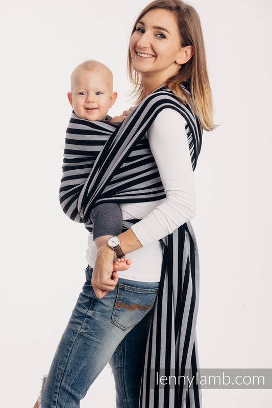 Fular, sarga cruzada - LIGHT AND SHADOW - talla XS #babywearing