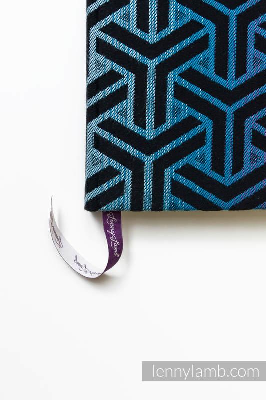 Kalendarz na rok 2019 z okładką z tkaniny chustowej - rozmiar A5 - TRINITY KOSMOS #babywearing