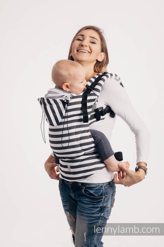 Ergonomic Carrier, Baby Size, twill weave 100% cotton - wrap conversion from DAY AND NIGHT - Second Generation. #babywearing