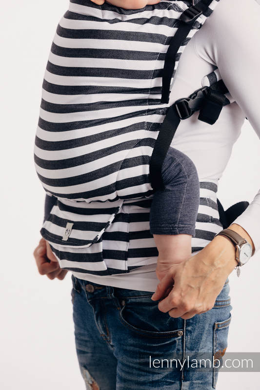 LennyUp Carrier, Standard Size, twill weave 100% cotton - DAY AND NIGHT #babywearing