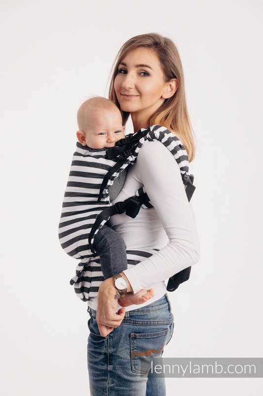 LennyUp Carrier, Standard Size, twill weave 100% cotton - wrap conversion from DAY AND NIGHT #babywearing