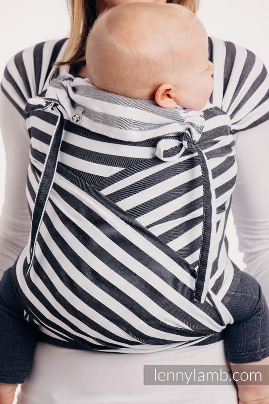 Nosidełko dla dzieci WRAP-TAI MINI, 100 % bawełna, splot skośny, z kapturkiem - DZIEŃ I NOC #babywearing