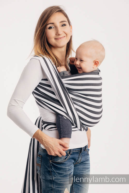 Tragetuch, Köperbindung (100% Baumwolle) - DAY AND NIGHT - Größe XS #babywearing