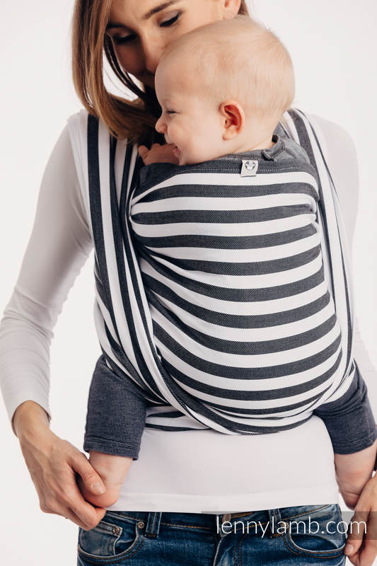 Baby Sling, Twill Weave, 100% cotton,  DAY AND NIGHT - size XS #babywearing