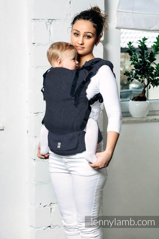 LennyUp Carrier, Standard Size, satin weave, 100% cotton - BASIC LINE JEANS #babywearing