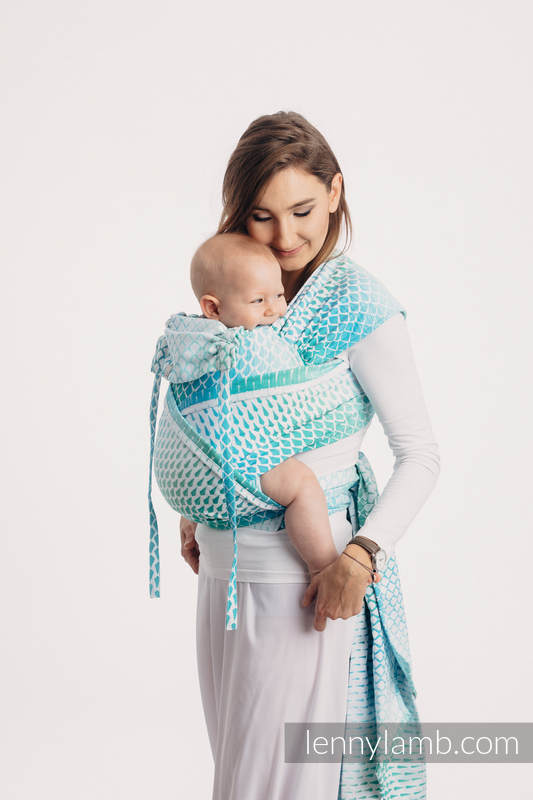 WRAP-TAI carrier Mini with hood/ jacquard twill / 100% cotton / ICICLES - ICE MINT #babywearing