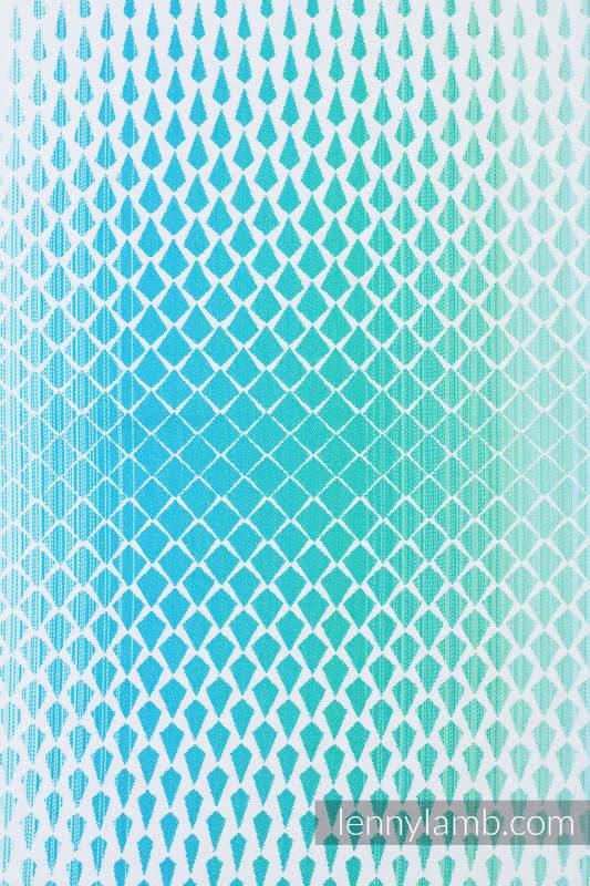 Mochila portamuñecos hecha de tejido, 100% algodón - ICICLES - ICE MINT #babywearing