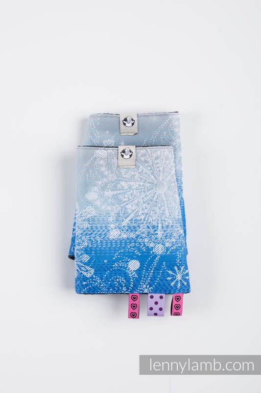 Schultergurtschoner (äußere Seite - 96 % Baumwolle, 4% metallisiertes Garn; Futter - 100% poliester) - SNOW QUEEN - MAGIC LAKE #babywearing