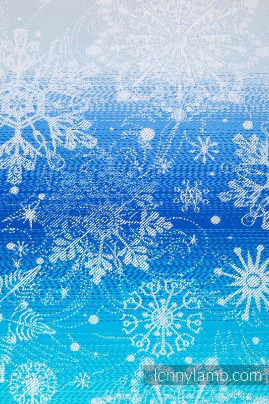 Fular, tejido jacquard (96% algodón, 4% hilo metalizado) - SNOW QUEEN - MAGIC LAKE - talla S #babywearing
