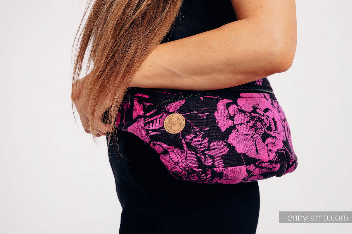 Waist Bag made of woven fabric, size large (100% cotton) - RETRO 'N' ROSES #babywearing