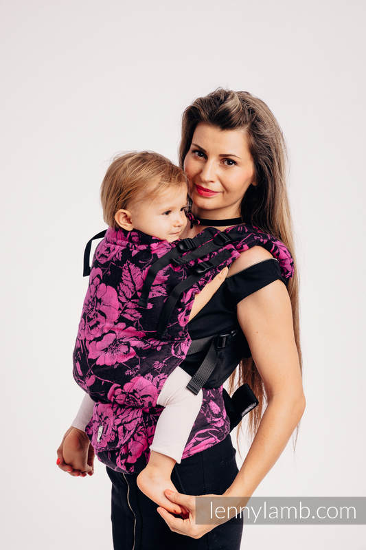LennyUp Carrier, Standard Size, jacquard weave 100% cotton - wrap conversion from RETRO 'N' ROSES #babywearing