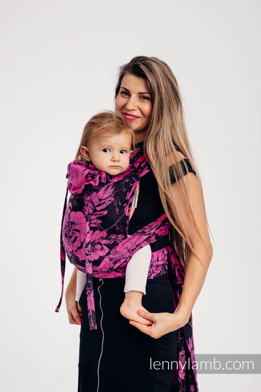 WRAP-TAI carrier Mini with hood/ jacquard twill / 100% cotton - RETRO 'N' ROSES #babywearing
