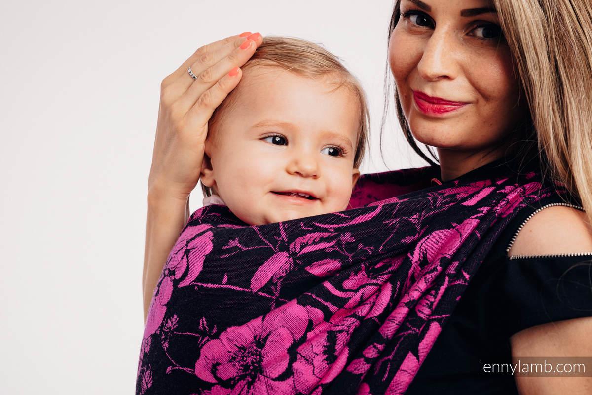 Fular, tejido jacquard (100% algodón) - RETRO 'N' ROSES - talla XL #babywearing