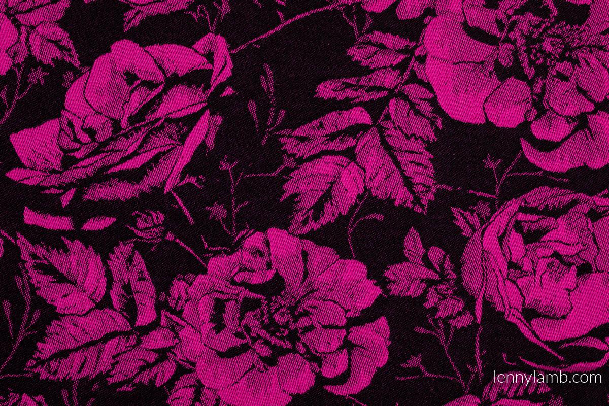 Baby Wrap, Jacquard Weave (100% cotton) - RETRO 'N' ROSES - size XS #babywearing
