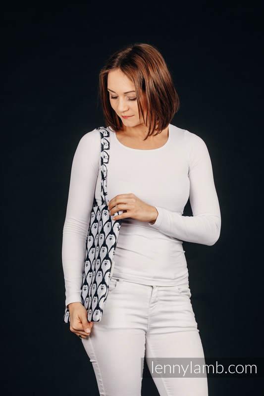 Torba na zakupy z materiału chustowego, (100% bawełna) - PINGWIN DOMINIKAŃSKI #babywearing