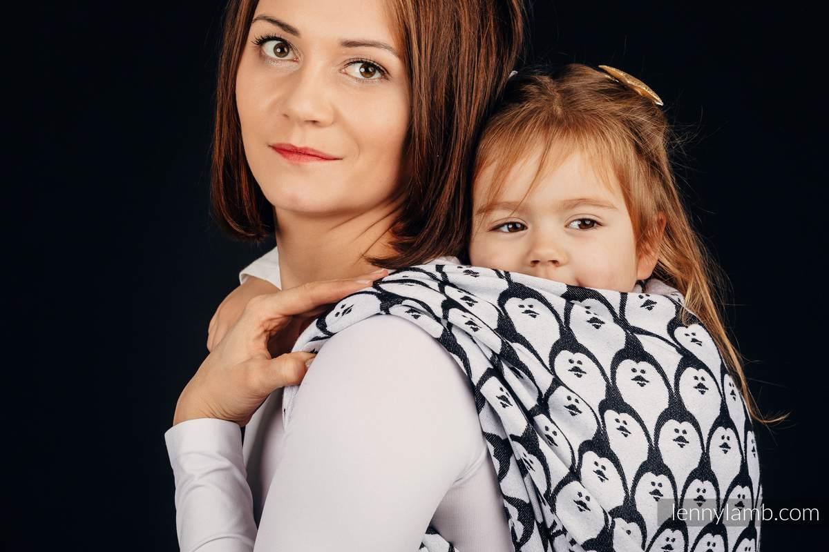 Żakardowa chusta do noszenia dzieci, 100% bawełna - PINGWIN DOMINIKAŃSKI - rozmiar S #babywearing