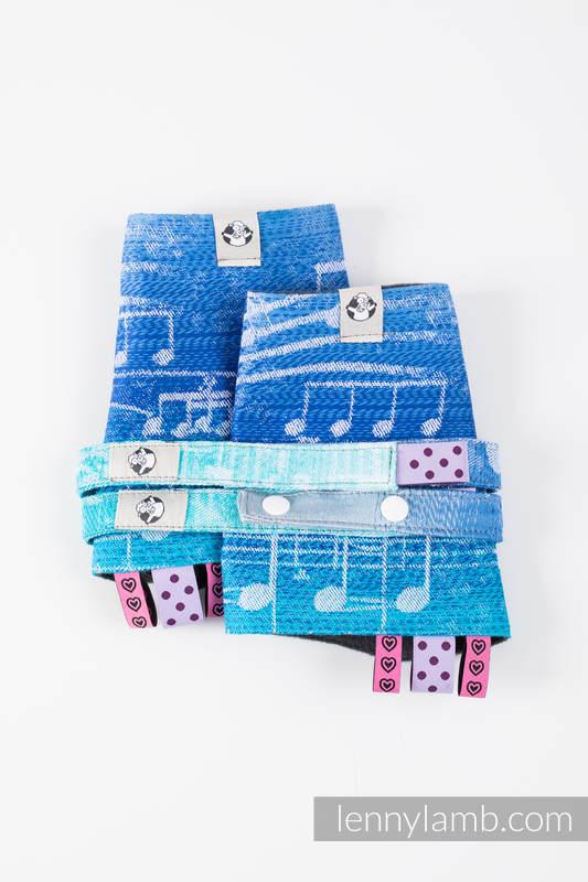 Set de protege tirantes y tiras de alcance (60% algodón, 40% Poliéster) - SYMPHONY AURORA #babywearing