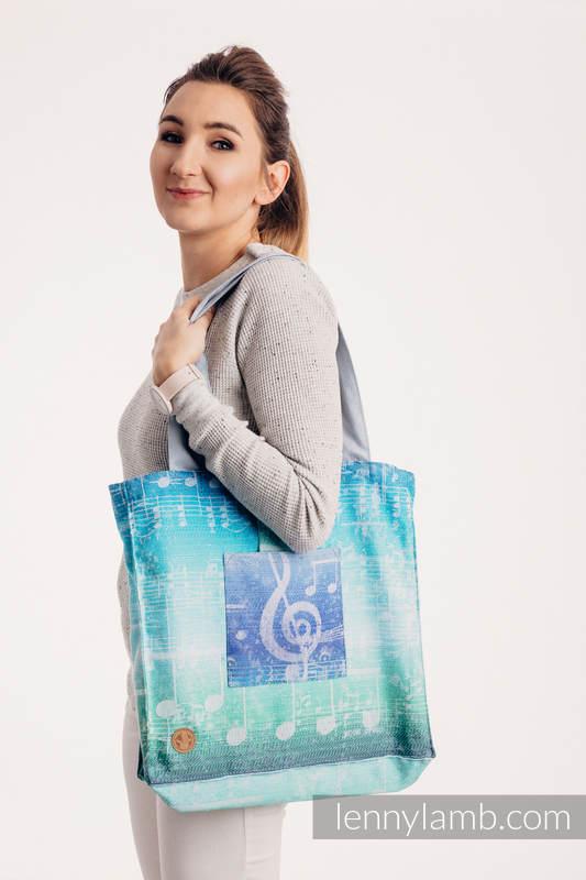 Bolso hecho de tejido de fular (100% algodón) - SYMPHONY AURORA - talla estándar 37 cm x 37 cm #babywearing