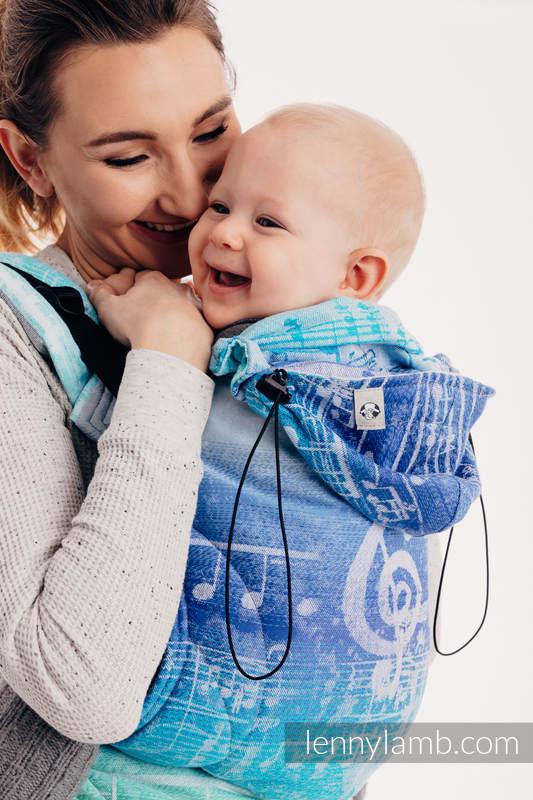 Ergonomic Carrier, Baby Size, jacquard weave 100% cotton - SYMPHONY AURORA - Second Generation #babywearing