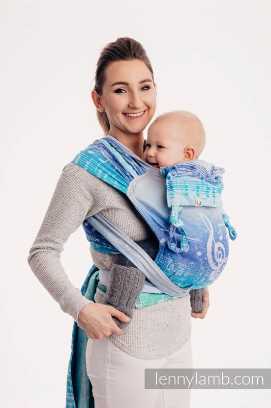 WRAP-TAI carrier Mini with hood/ jacquard twill / 100% cotton / SYMPHONY AURORA (grade B) #babywearing