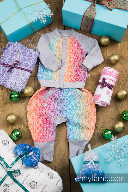 Christmas Gift Set for a Little Girl (LennyBomber 100% cotton, LennyBaggy 100% cotton, Swaddle Wrap 100% cotton, Woven Blanket 100% cotton. Christmas Ornament 100% cotton) #babywearing
