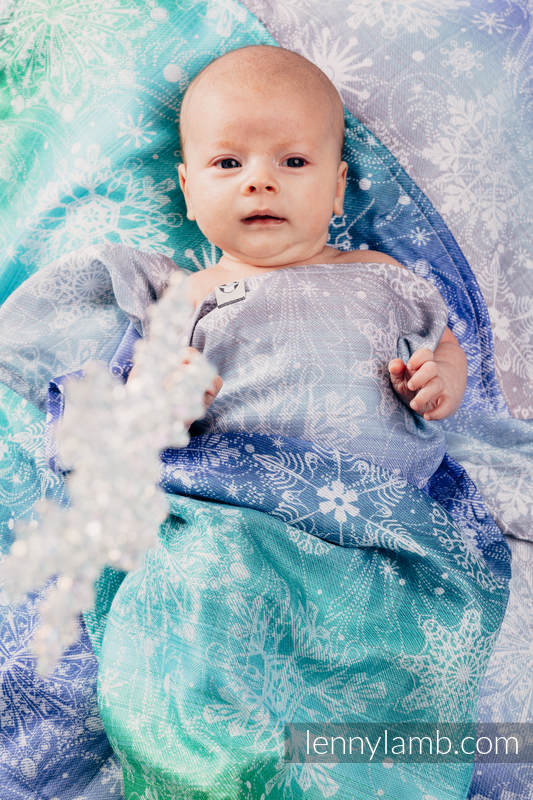 Muslin Square - SNOW QUEEN MAGIC LAKE #babywearing