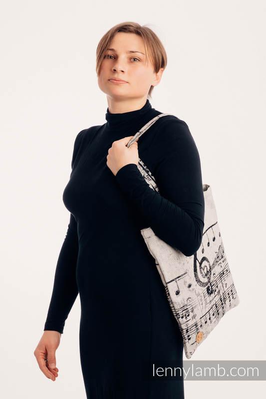 Shopping bag made of wrap fabric (96% cotton, 4% metallised yarn) - SYMPHONY GLOWING DUST #babywearing