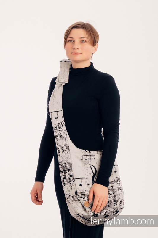 Hobo Bag made of woven fabric, 96% cotton, 4% metallised yarn - SYMPHONY GLOWING DUST #babywearing